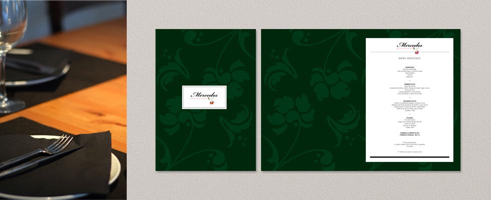 La carta del restaurante Mercedes diseñado por Yellowtee