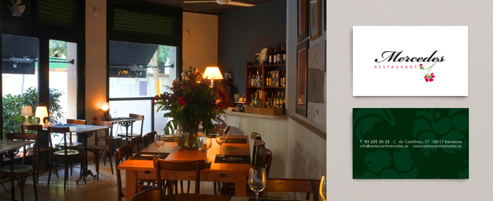 Detalle del acogedor restaurante Mercedes