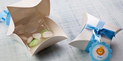 Cajas diseñada para el bautizo de Pau