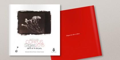 Diseño del programa para la fiesta del Corpus sitges 2015