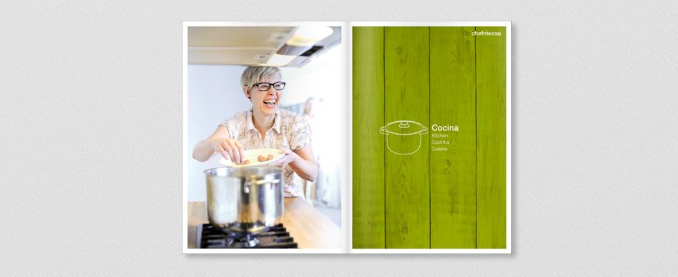 Diseño Interior del catálogo 2015 para ChefMecsa cocina