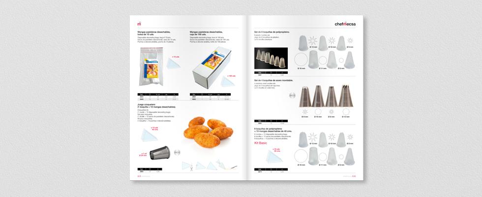 Diseño del catálogo 2015 para ChefMecsa cocina interior