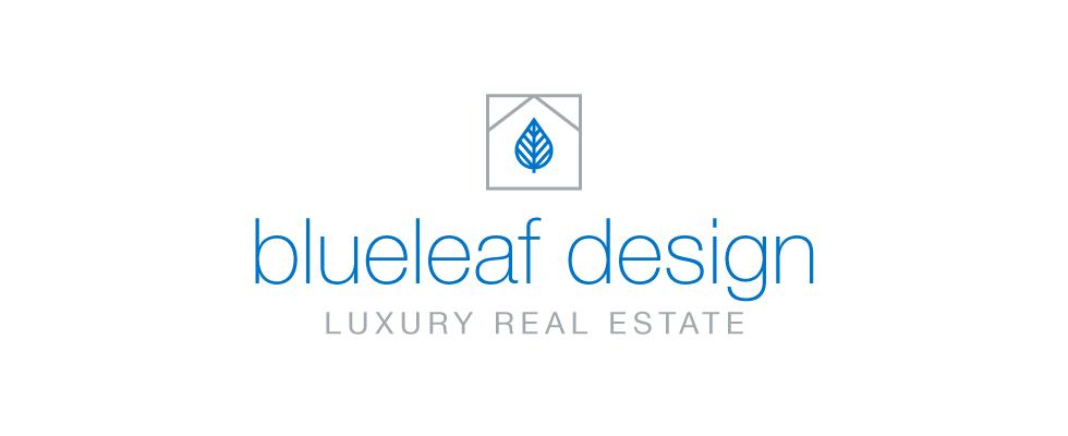 logotip dissenyat per a Blueleaf Design