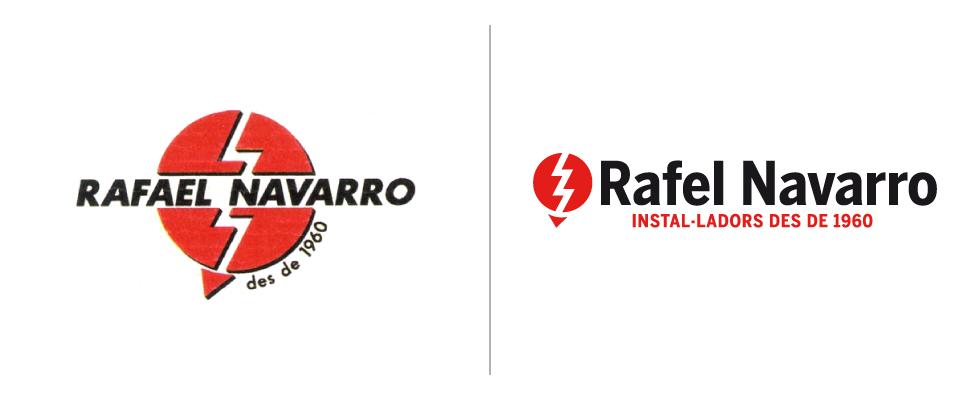 logotipo, antes y después