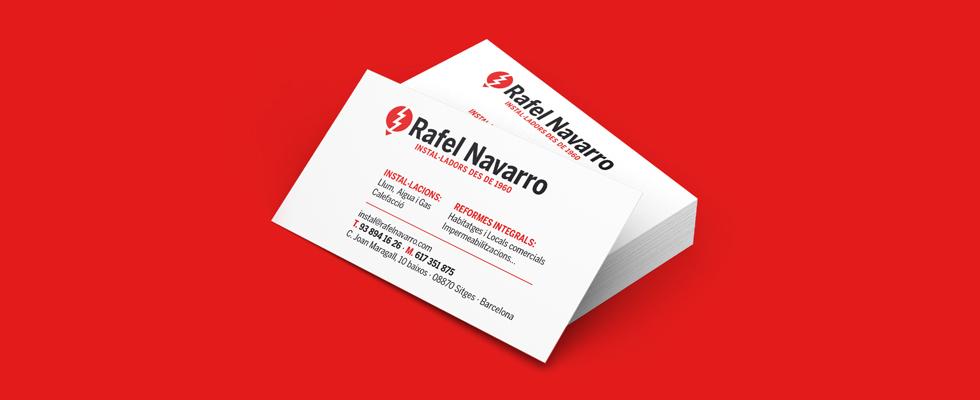 Diseño de tarjeta comercial para instalaciones Rafel Navarro
