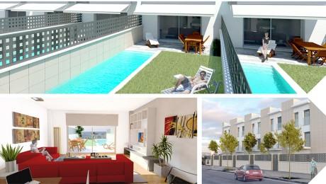 Diseño de lona para la venta de viviendas